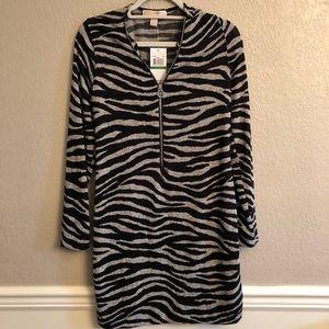 MK Zebra Print Sheath Dress